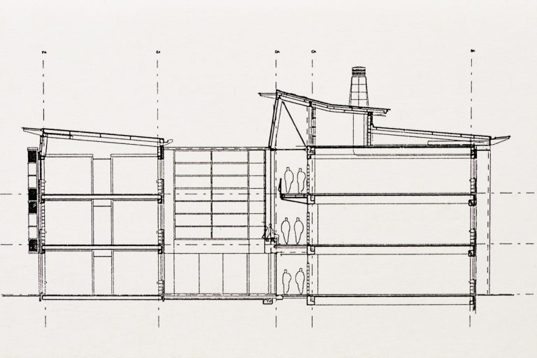 Architectural drawing of Southlands College