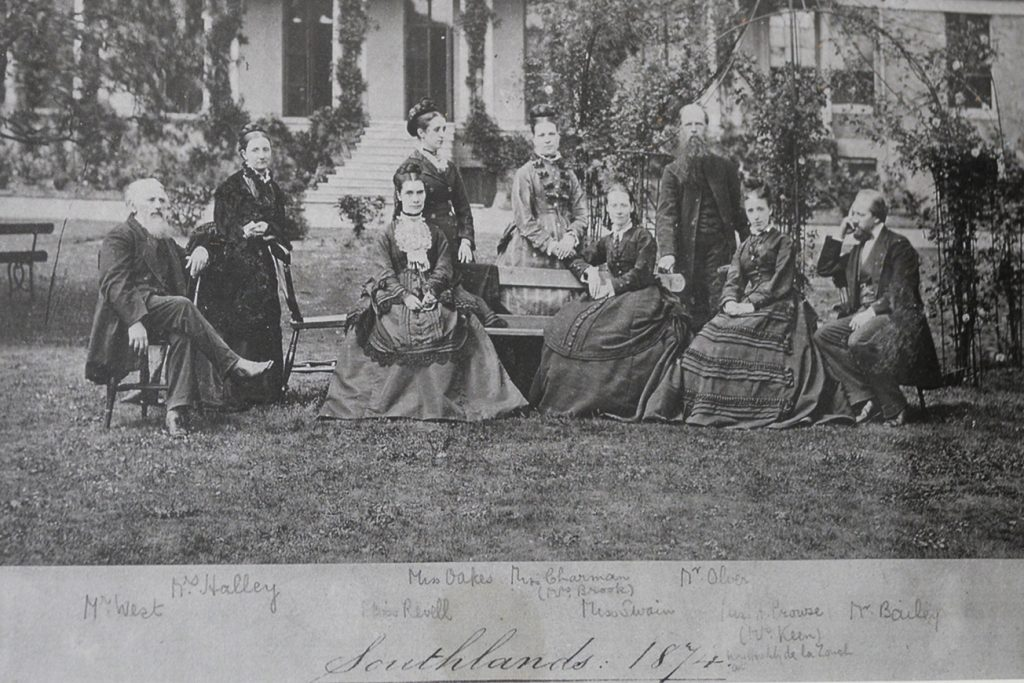 Photo of Victorian group of people from 1874