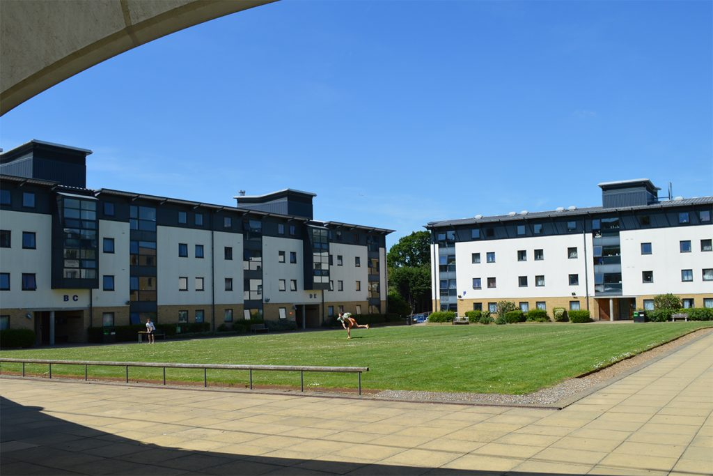 Southlands College buildings around central quad