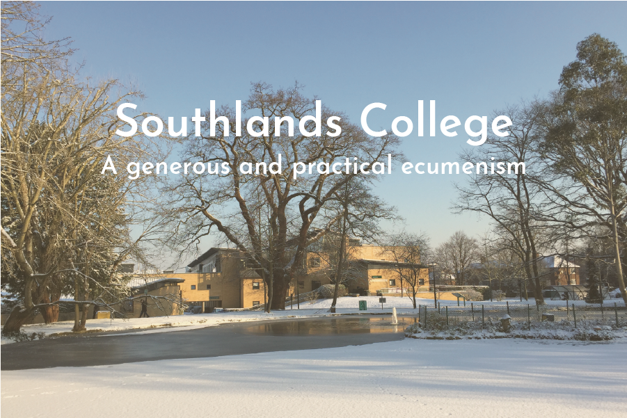 Southlands College buildings in snow
