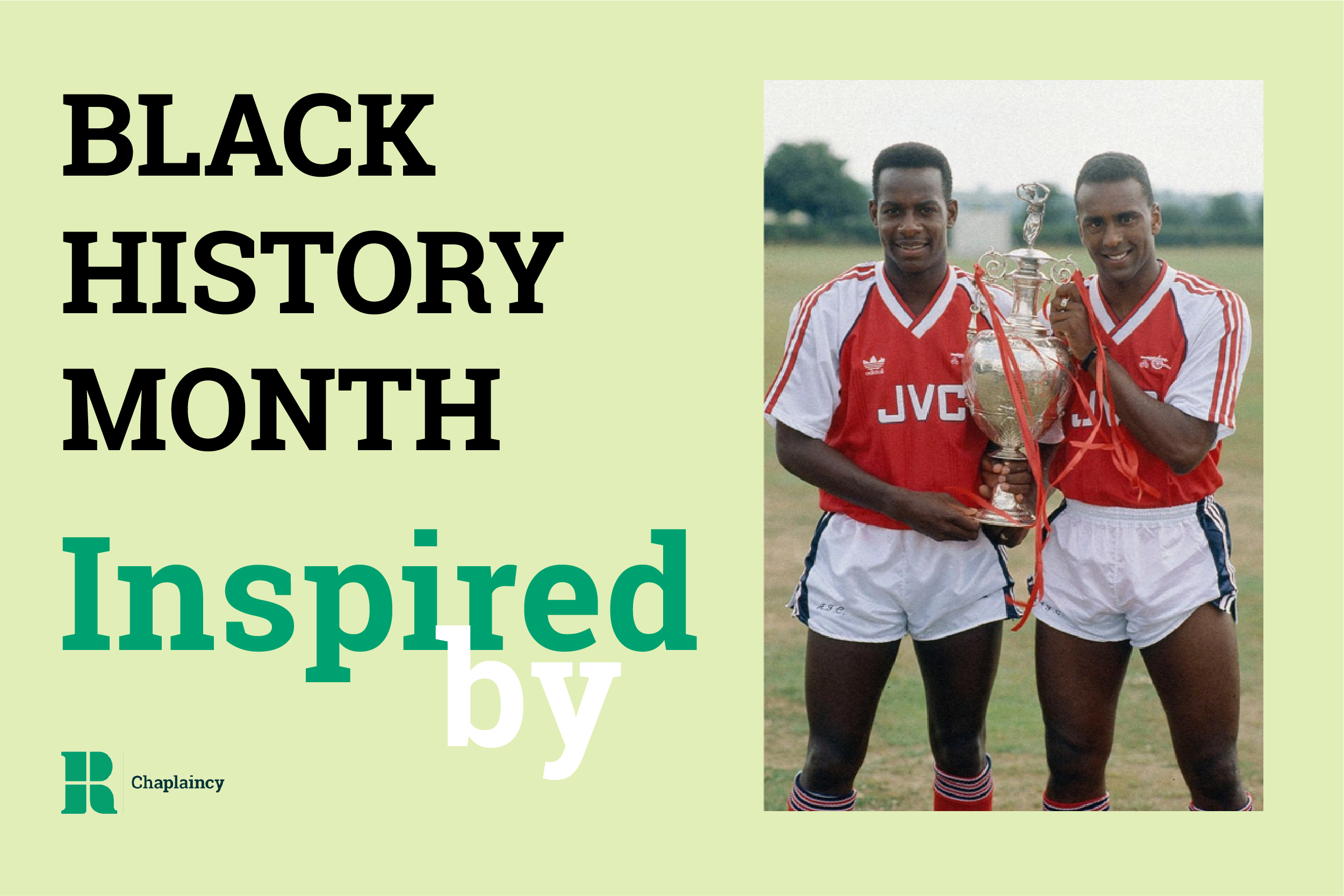 David Rocastle and another Arsenal player holding a trophy